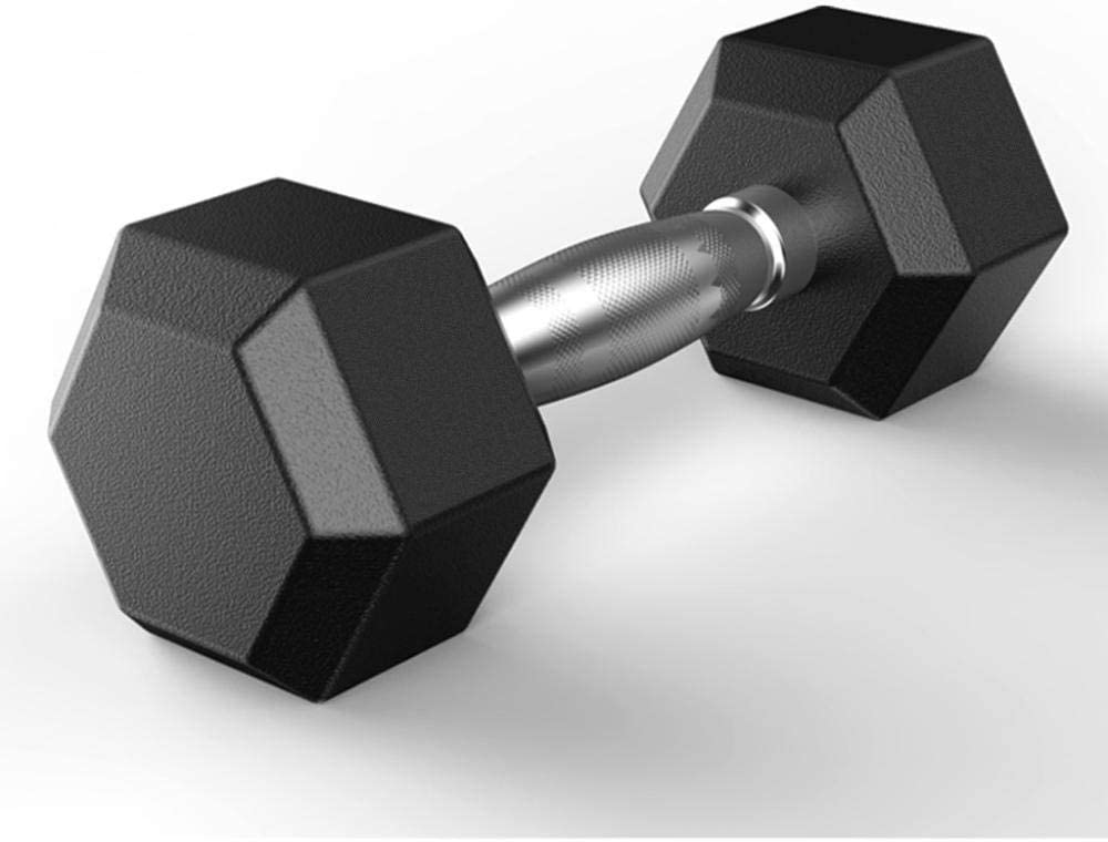 Hex Rubber Dumbbell Encased Weight 引出物 with Hand マート