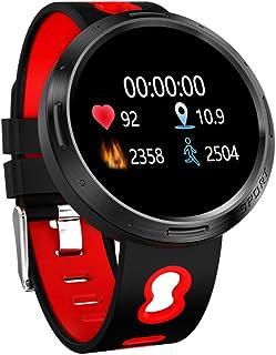 LHZTZKA Reloj Inteligente, monitorización de la frecuencia cardíaca con presión Arterial en Color, Reloj Deportivo multifunción Impermeable Paso a Paso con Bluetooth.