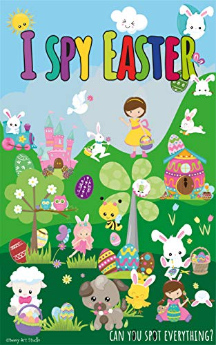 """I Spy Easter: Fun """"I Spy With My little Eye"""" Color Picture Book, Gift For Toddlers, Kids And Preschoolers Ages 2-5 (English Edition)"""