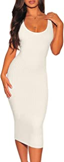Best white sleeveless sweater dress Reviews