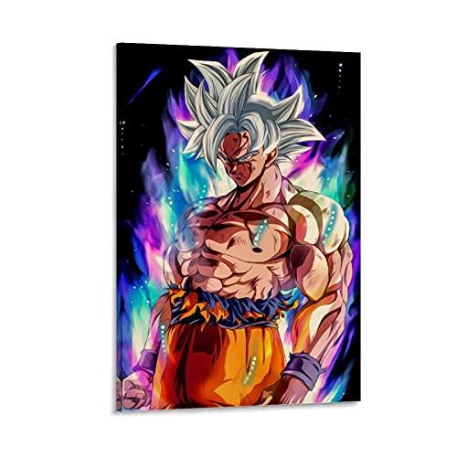WUZHI Poster décoratif sur toile Goku Kakarot DBZ pour salon, chambre à coucher, 60 x 90 cm