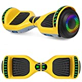 SISIGAD A12 Hoverboard 6.5' Self Balancing Scooter with Bluetooth Speaker (Yellow+Gray)