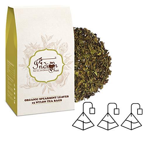 The Indian Chai - Spearmint Tea 15 Pyramid Tea Bags Organic Herbal Tea