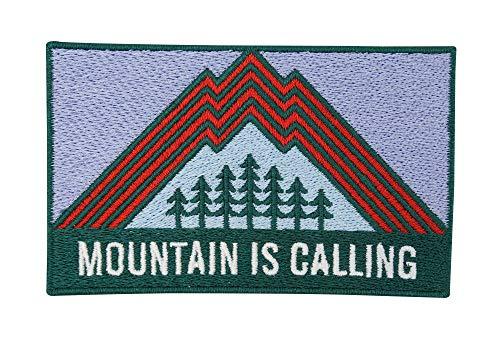 Finally Home Adventure Collection: Mountain is Calling Montaña con árboles, parche termoadhesivo para hacer senderismo al aire libre, parches para planchar, parches también adecuados para mochilas