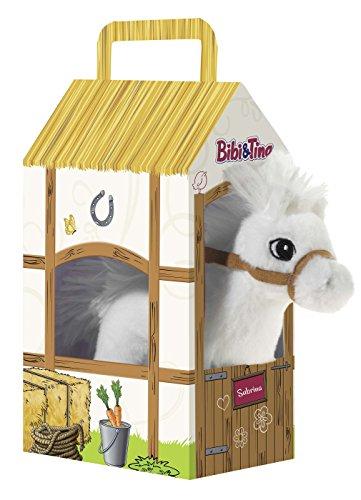 Bibi & Tina 636873 636873-Pferd Sabrina stehend im Stall Plüschtier, weiß