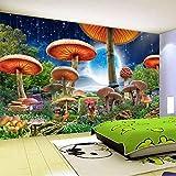 RTYUIHN dibujos animados cuento de hadas seta luna escena nocturna papel habitación de los niños dormitorio decoración de la pared papel 3D foto papel tapiz decoración de arte de pared moderno