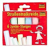 Idena 621731 - Straßenmalkreide im Kartonetui, 6 Stangen in verschiedenen Farben, zum Bemalen von...