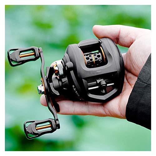 LHAHGLY S Carrete de Pesca Baitcasting Carrete de Pesca Pesca Spool Bobina Arrastre 8 Kg Alta Velocidad 6.3: 1 Carrete de señuelo Ligero Cebo magnético Carrete de fundición Carrete Spinning