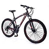 L&WB Bicicleta De Montaña 21 Velocidad 29 Pulgadas Marco De Aleación De Aluminio Bicicleta De Montaña, Reduce El Pendulum Tiempo A La Escuela Y El Trabajo,Naranja
