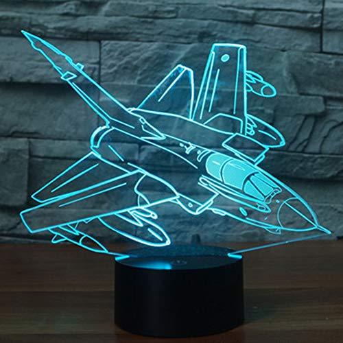 3D Illusion Lampe Flugzeug Führte Nachtlicht -7 Farben Blinken USB Berühren Sensor Schlafzimmer Schreibtischlampen für Kinder Weihnachten Geburtstag Geschenke, Zuhause Dekorationen