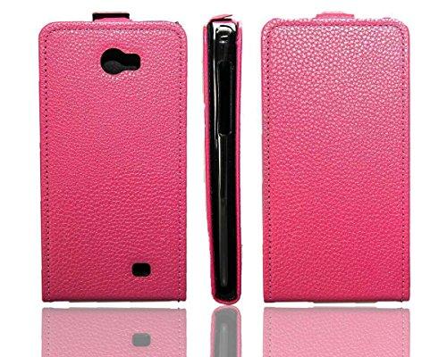 caseroxx Flip Cover für Kazam Trooper 2 5.0, Tasche (Flip Cover in pink)