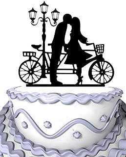 Meijiafei Kissing Girl and Boy beside Stree Lamp in The Wind Wedding Cake Topper Silhouette