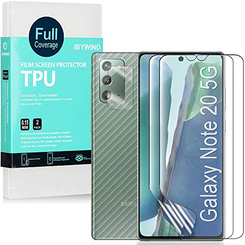 Ibywind Protector de Pantalla para Samsung Galaxy Note 20 5G [2 Piezas],con...