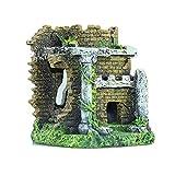 MJSHA Castillo de paisajismo para pecera de Acuario,Arco de Puerta de simulación,Paseo de Peces y camarones a través del Refugio,Adornos de Resina Artesanal, Criaturas submarinas