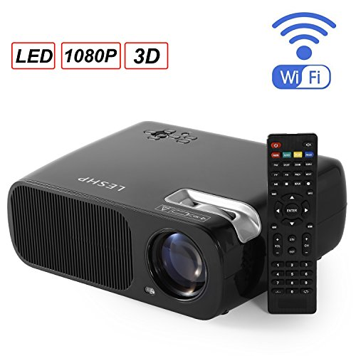 leshp–LED Projektor Heimkino Multimedia Home Cinema WLAN