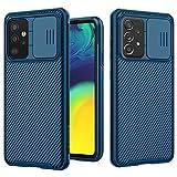 XTCASE Funda para Samsung Galaxy A52 5G/4G, Protección de la cámara Carcasa Cubierta de cámara Deslizante Proteger Ultra-Delgado Híbrida PC Anti-Choque Anti-arañazos - Azul