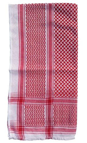 Rood & Wit Keffiyeh mannen moslim Arafat sjaal sjaal Turban Sorban 120x120cm