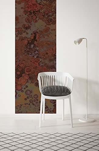 Komar 746-DV1 Vlies Fototapete PATINA-100 x 280 cm-Tapete, Wand Dekoration, Bronze, Abstrakt, Metall, Edelrost-746-DV1, bunt