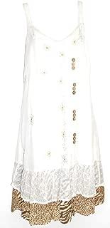 Cotton/Rayon Swing Dress With Animal Print Ruffle SM-3L