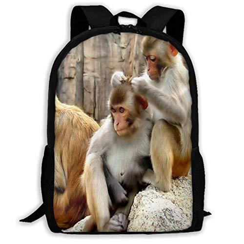 Rucksack Monkies Zipper School Bookbag Daypack Reiserucksack Gym Bag