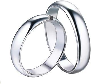 Anello Fedine di Fidanzamento Coppia Anelli Lui e lei Unisex in Argento 925 Idea Confezione Regalo FA-03-CV