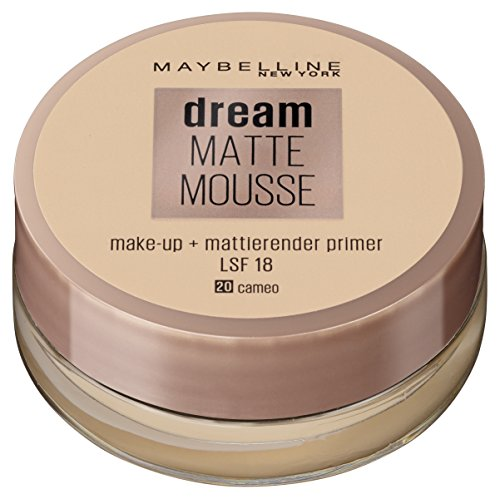 Maybelline New York Make Up, Dream Matte Mousse Make-Up, Mattierend, Nr. 20 Cameo