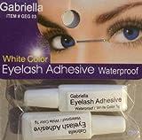 Gabriella Eyelash Adhesive (Waterproof/White Color) (Pack of 2 tubes of 1 gram each)
