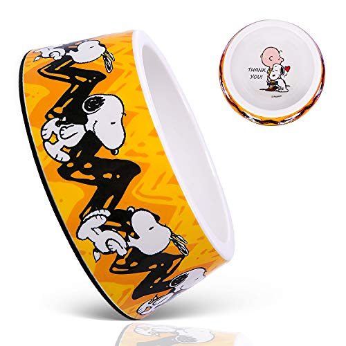 ZOOZ PETS Snoopy Dog Bowls - Official Peanuts Safe Material Dog Bowl with Non-Skid Silicone Base - Dog Food Bowl for Dogs and Cat Bowls - Dog Water Bowl with Unique Designs for Small and Large Pets