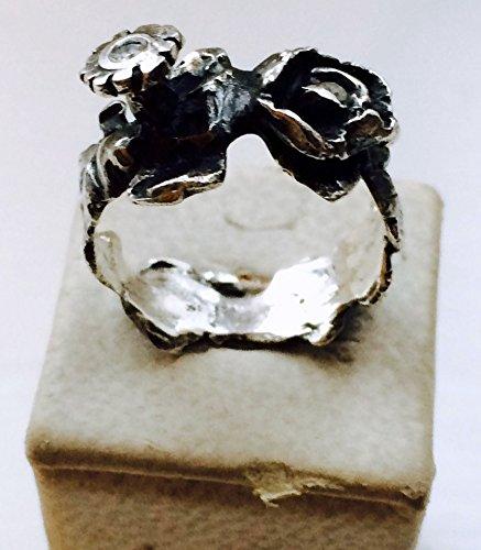 Garland Ring, Silber, Diamanten