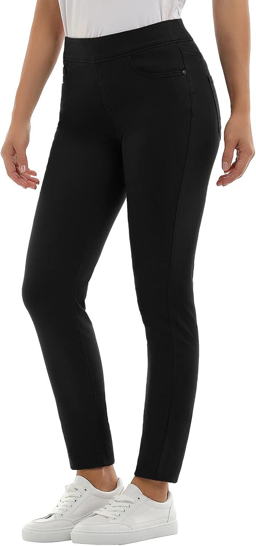 ROHSCE Women's Totally Shaping Pull-on Skinny Jeans (Black,20)