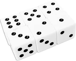 sammy 見やすい 大きいサイコロ 6面ダイス マジック すごろく ボードゲーム おもちゃ でかい 25mm 6個セット