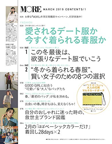 MORE 2019年3月号 商品画像