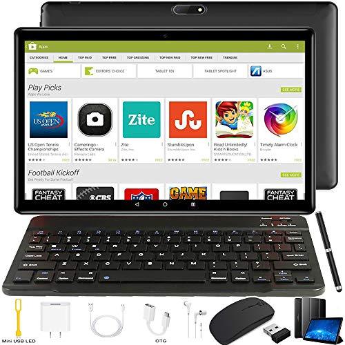 Tablette Tactile Ecran 10 Pouces - 4G Doule SIM/WiFi 3Go RAM 32Go ROM Android 8.1 8500mAh Batterie Quad Core Bluetooth GPS OTG Noir