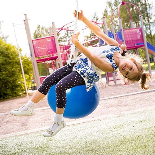 Alomejor Kinder Schaukelsitz Boje Ball Schaukeln Set mit Hängeseil für Kinder Geburtstagsgeschenk Jungen Mädchen(Blau)