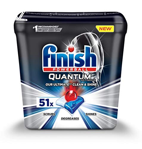 Finish Powerball Quantum Ultimate - Pastillas para lavavajillas (51 unidades)