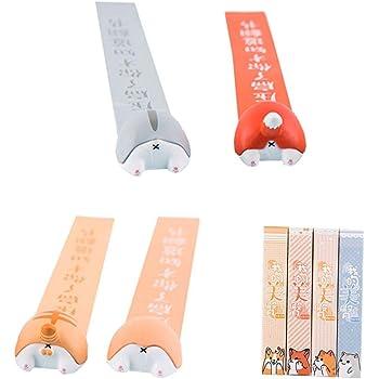regalo ideale per bambini Gatto Segnalibro con disegni animati in 3D per lettura di libri per studenti TONGXU cancelleria ufficio