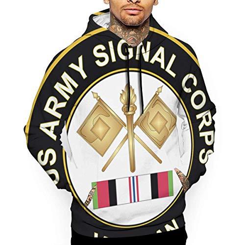 Ksiwre Sudadera con Capucha Army Signal Corps Afghanistan Veteran Men's 3D Pullover,Long Sleeve Hoodies,Sweatshirt Tops