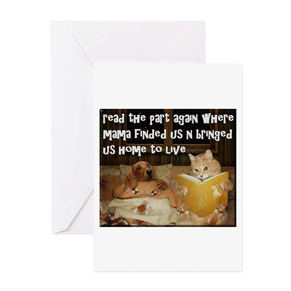 CafePress Adopt A Pet Greeting Card (20-pack), Note Card with Blank Inside, Birthday Card Glossy