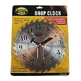Wanduhr Quartz Sägeblattdesign Uhr Werkstatt Büro 250 MM