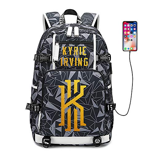 バスケットボール選手スターカイリーアービング多機能バックパック旅行学生バックパックファン本袋用男性女性 (スタイル 6)