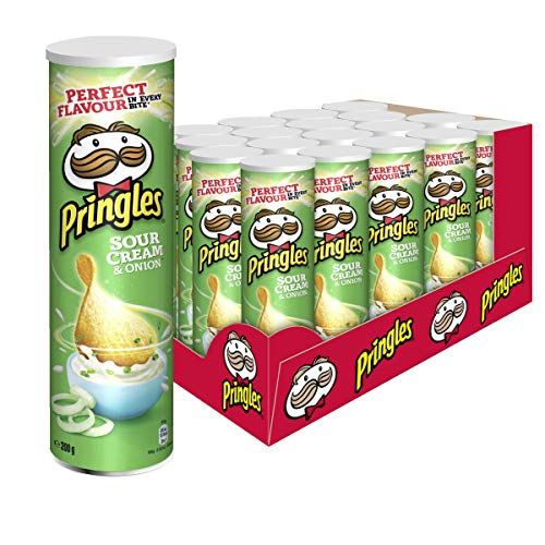 Pringles Sour Cream & Onion | Sourcream Chips | 19er Vorratspackung (19 x 200g)