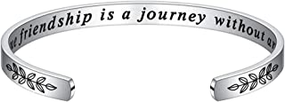 أساور للهدايا الشخصية للنساء - سوار ملهم منقوش بإقتباس عيد الميلاد هدايا مضحكة لأفضل صديق ، ابنة ، ابنة ، أخت ، ابنة ، أمي...