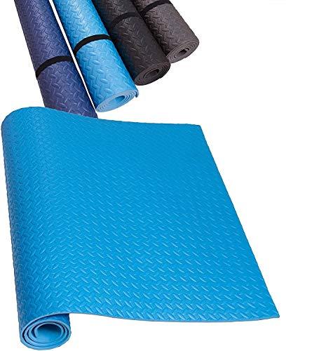 HD Fitness FM2000BLU Esterilla de Yoga Antideslizante - Colchoneta Antideslizante para Gimnasio, Pilates, máquinas para Hacer Ejercicio - Color Azul - 200x100cm