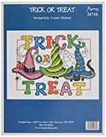 """Imaginating Counted Cross Stitch Kit 10.5""""X7.75""""-Trick Or Treat (14 Count)"""