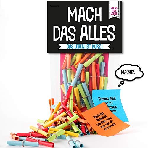 Monsterzeug Lostüte mit 50 Losen, Mach das Alles Verlosungsspiel, Papierlose mit Aufgaben, Textlose mit Challenges