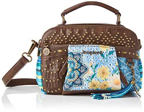 Desigual Fabric Hand Bag, Borsa a Mano. Donna, Blu, U