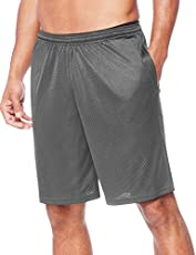 Hanes Men's Sport Mesh Pocket Short, Railroad Gray, Small