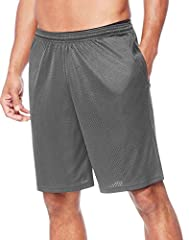 """Breathable mesh fabric Covered elastic waistband with drawstring for an adjustable fit Mesh lined pockets for storage 9"""" inseam"""