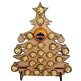 hinffinity Noël Calendrier De L'avent À La Main en Bois Creux Compte À Rebours Arbre De Noël Chocolat Stand Notes Rappelant Carte, pour La Décoration De Noël