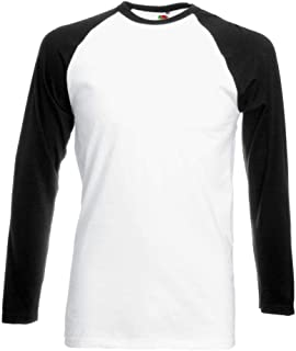 Fruit of the Loom - Kontrast Langarmshirt Longsleeve Baseball T